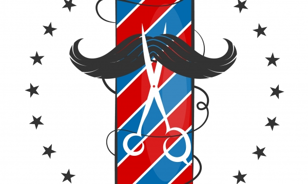 Barber shop simple design for business